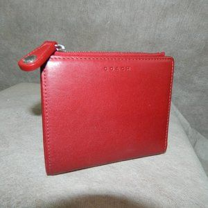 Coach 'Snap Wallet Credit Card RED! LN!